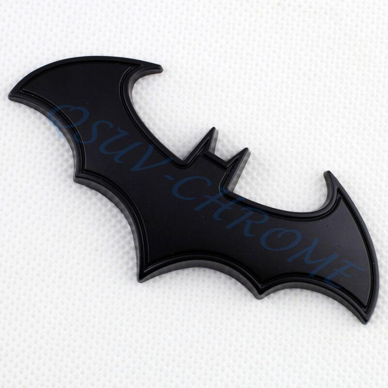 3D Auto Motors Accessories Black Bat Emblem Logo Badge Sticker Decal Decor Trim