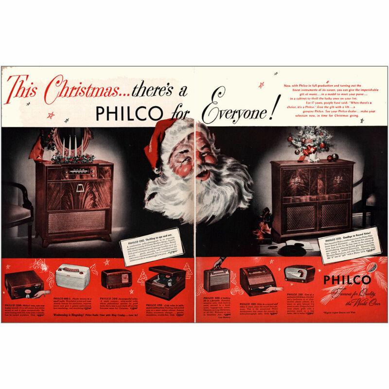 1947 Philco: This Christmas Philco for Everyone Vintage Print Ad