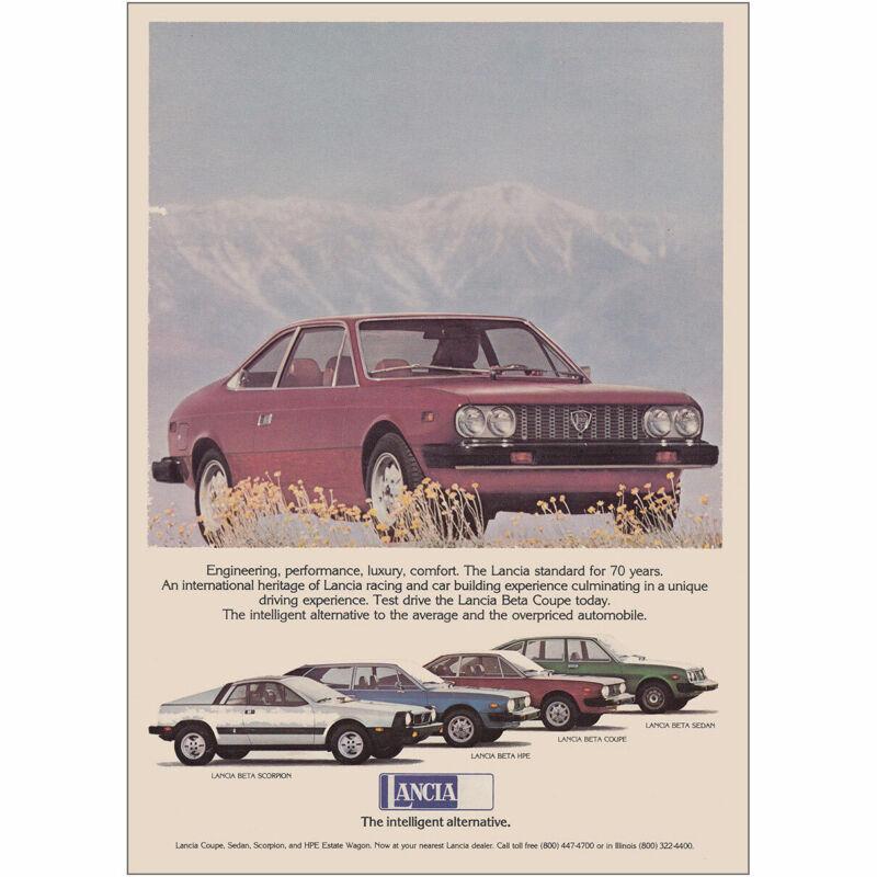 1976 Lancia: Engineering Performance Luxury Comfort Vintage Print Ad