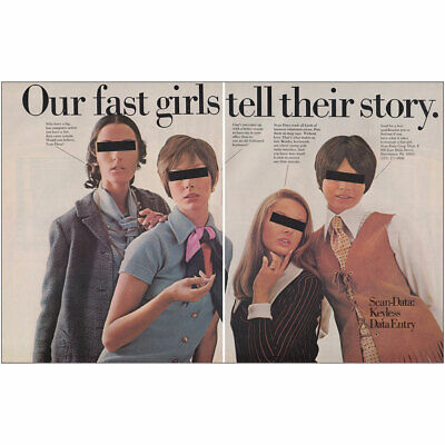 1970 Scan Data Corp: Our Fast Girls Tell Their Story Vintage Print Ad