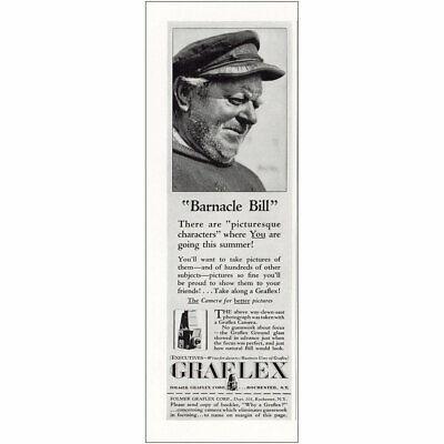 1931 Graflex: Barnacle Bill Vintage Print Ad
