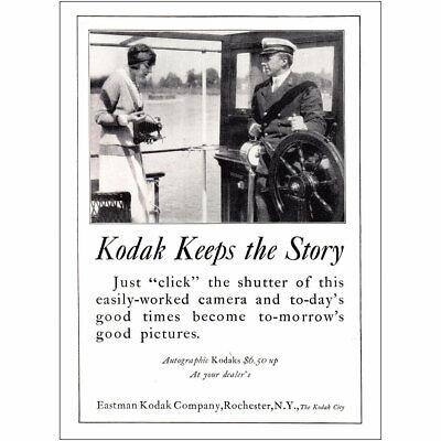 1924 Kodak: Kodak Keeps the Story Vintage Print Ad