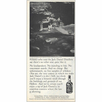 1979 Jack Daniels: No Loudspeakers No Standing In Line Vintage Print Ad