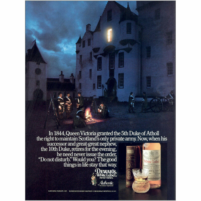 1985 Dewars: Queen Victoria Granted the 5th Duke Vintage Print Ad