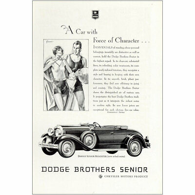 1929 Dodge Brothers Senior: Car With Force of Character Vintage Print Ad