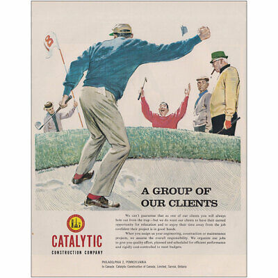 1962 Catalytic Construction: Group of Our Clients Golf Vintage Print Ad