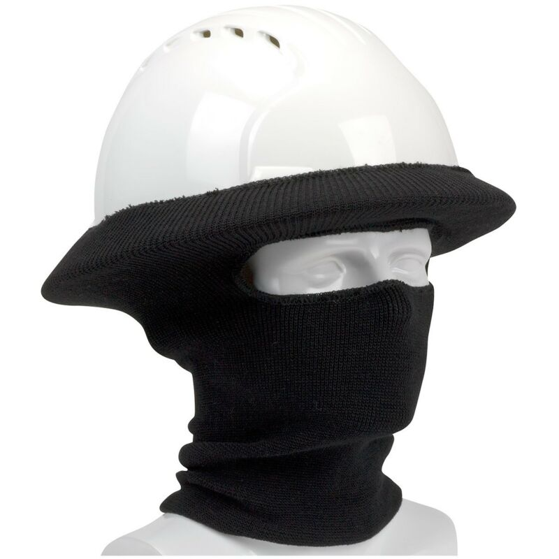 ASTM Flame Resistant Knit Hard Hat Tube Liner, Black