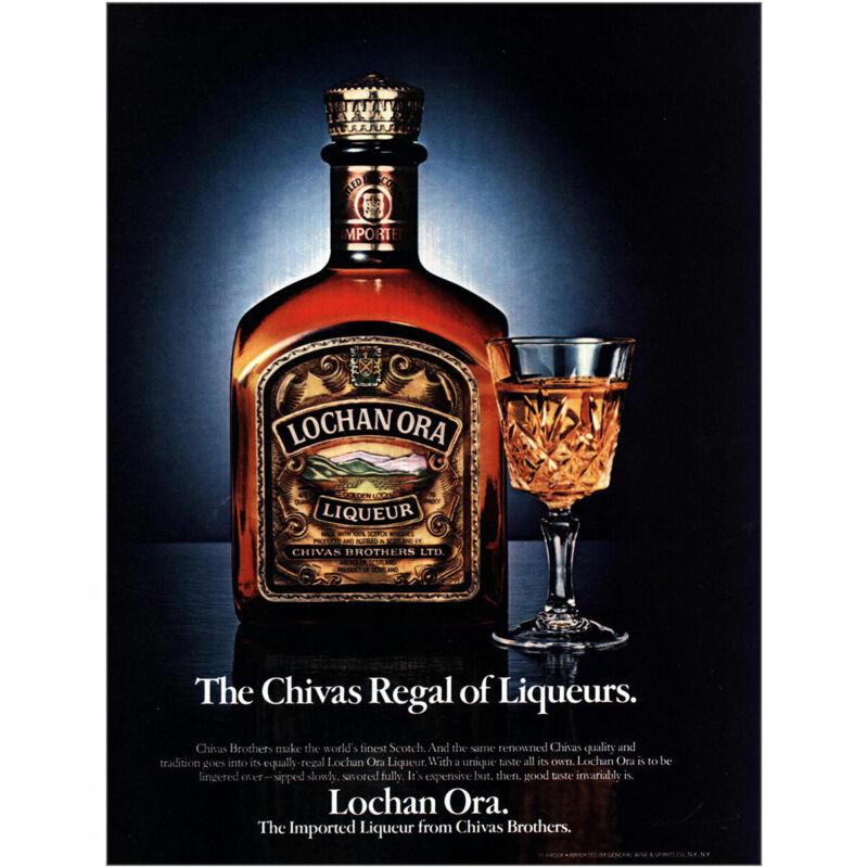 1981 Lochan Ora: Chivas Regal of Liqueurs Vintage Print Ad