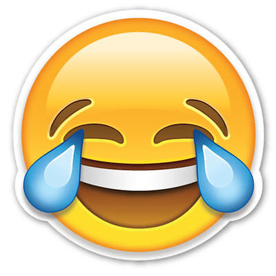 Framed Emoji Print - Laughing with Tears Face (Picture Poster Emoticons Phone) (Laughing With Tears Emoji)