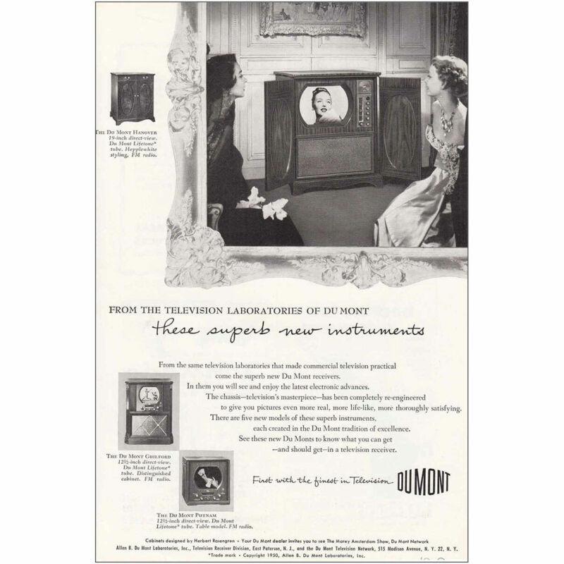 1950 DuMont Television: New Instruments Vintage Print Ad