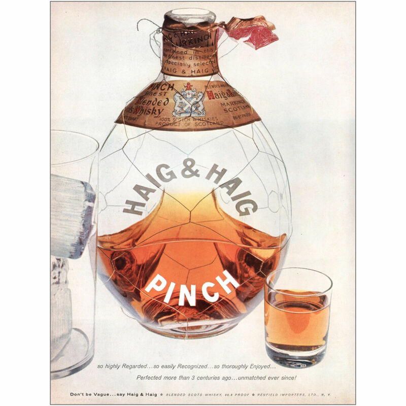 1955 Haig & Haig: So Highly Regarded Recognized Vintage Print Ad