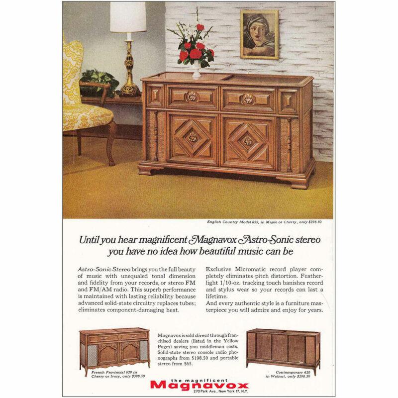 1966 Magnavox: English Country Model 655 Vintage Print Ad