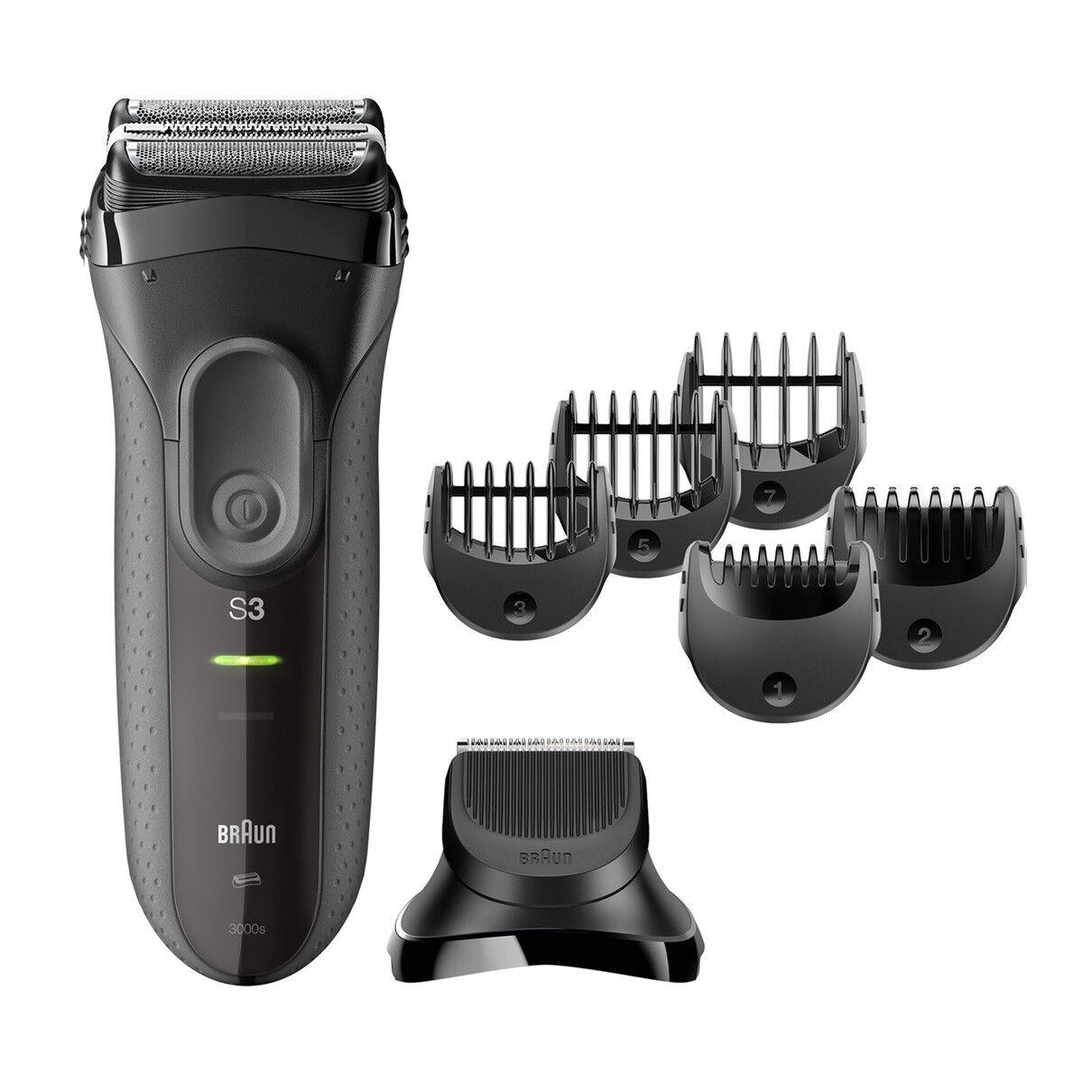 Braun Elektrorasierer Series 3 3000BT, Aufsätze: 5, Langhaartrimmer, Shave&Style