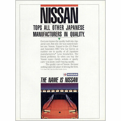 1987 Nissan: Tops All Other Japanese Manufacturers Vintage Print Ad