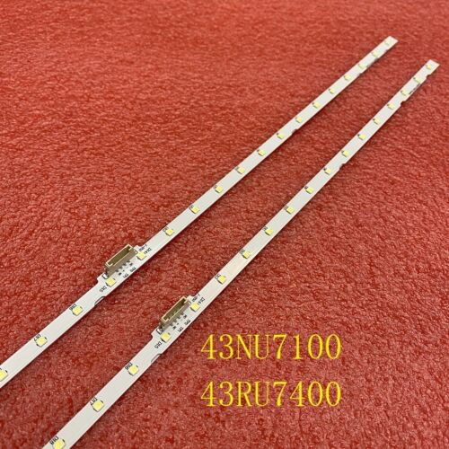 LED strip(2)for Samsung UN43NU7100 UE43NU7100 UE43UN7020 UE43NU7120 UE43NU7170
