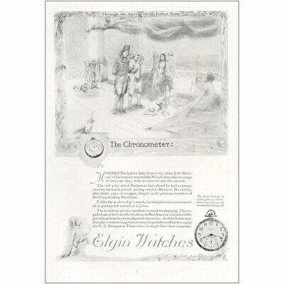 1921 Elgin Watches: Chronometer Vintage Print Ad