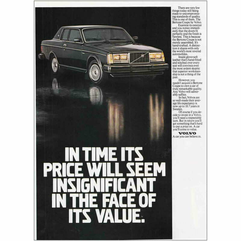 1981 Volvo: Price Will Seem Insignificant Vintage Print Ad