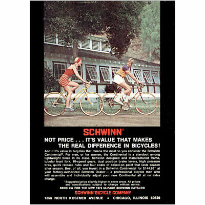 1975 Schwinn Bicycle: Value That Makes the Real Difference Vintage Print Ad
