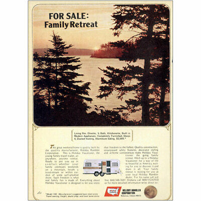 1973 Holiday Rambler: For Sale Family Retreat Vintage Print Ad