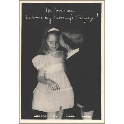 1959 Lanvin Arpege: He Loves Me He Loves My Mommys Arpege Vintage Print Ad