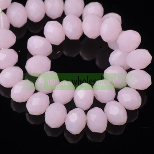 DIY 100 Pcs 4mm Loose Beads Round Spacer Double Colors Glass Jewelry making #35