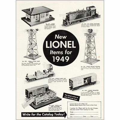 1949 Lionel Trains: Items for 1949 Vintage Print Ad