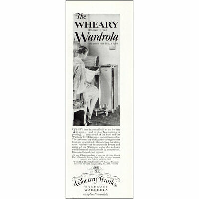 1927 Wheary Trunks: Wardrola Vintage Print Ad