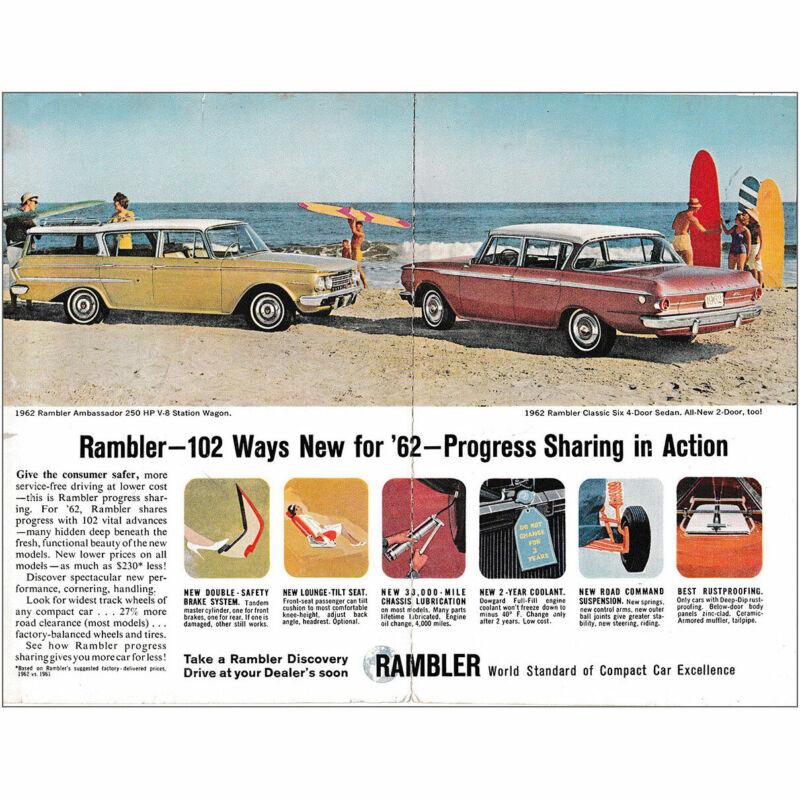 1962 Rambler: 102 Ways New for 62 Vintage Print Ad