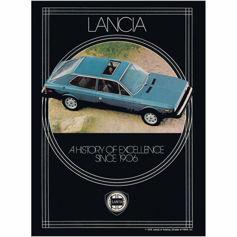 1978 Lancia: A History of Excellence Vintage Print Ad