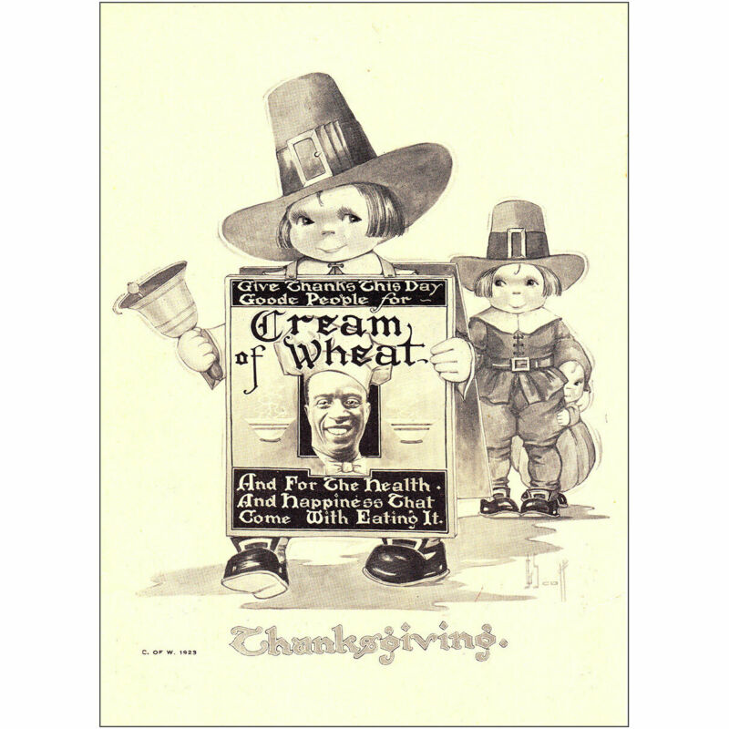 1923 Cream of Wheat: Give Thanks This Day Goode People Vintage Print Ad