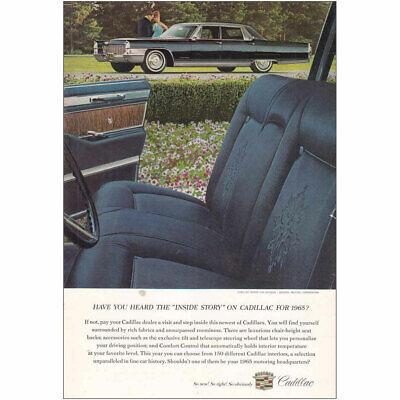 1965 Cadillac: Inside Story on Cadillac Vintage Print Ad
