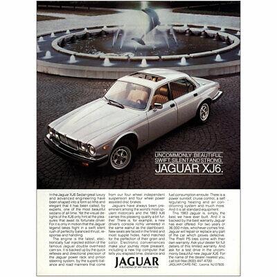 1983 Jaguar XJ6: Uncommonly Beautiful Vintage Print Ad