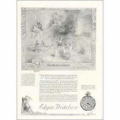 1921 Elgin Watch: The Keyless Watch Vintage Print Ad