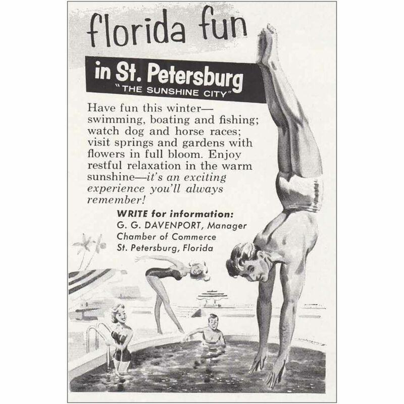 1958 St Petersburg Florida: Florida Fun Vintage Print Ad