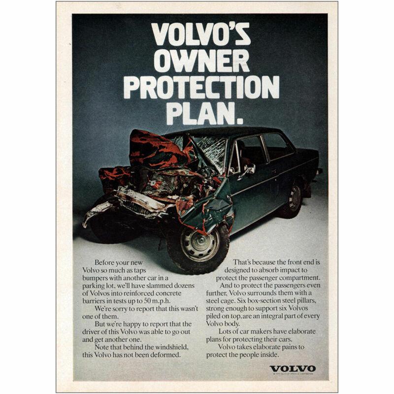 1975 Volvo: Owner Protection Plan Vintage Print Ad