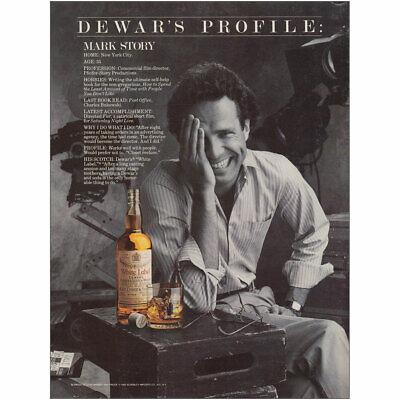 1983 Dewars: Profile Mark Story Vintage Print Ad