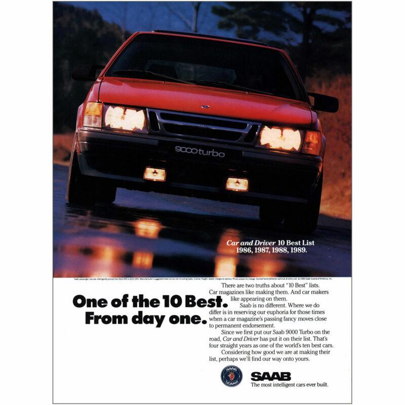 1989 Saab 9000 Turbo: One Of the 10 Best Vintage Print Ad