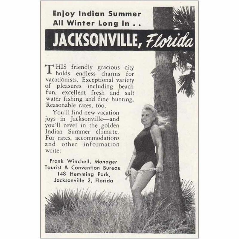 1948 Jacksonville Florida: Enjoy Indian Summer Vintage Print Ad