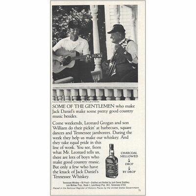 1984 Jack Daniels: Leonard Grogan and Son William Vintage Print Ad