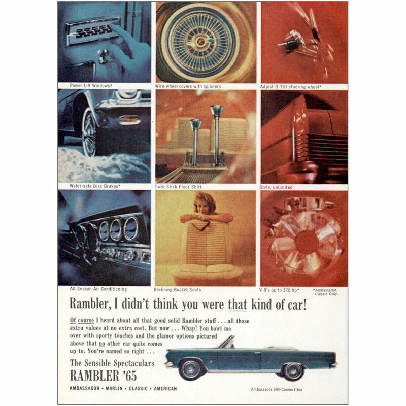 1965 Rambler: I Didnt Think You Were That Kind of Car Vintage Print Ad