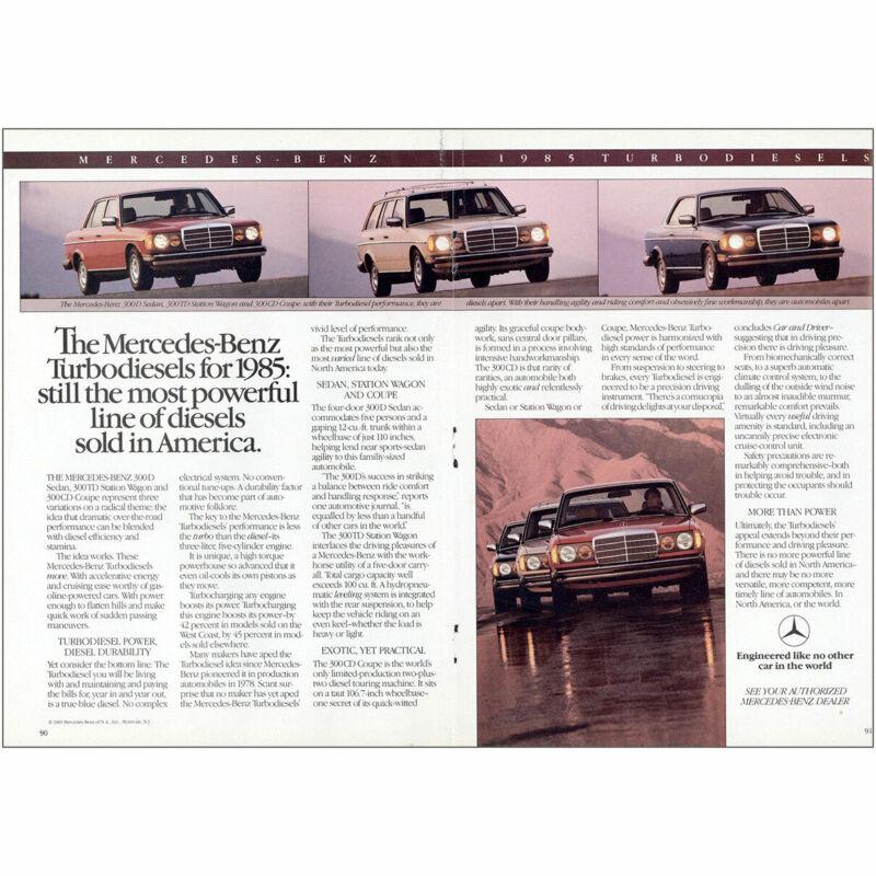 1985 Mercedes Benz Turbodiesels: Most Powerful Vintage Print Ad