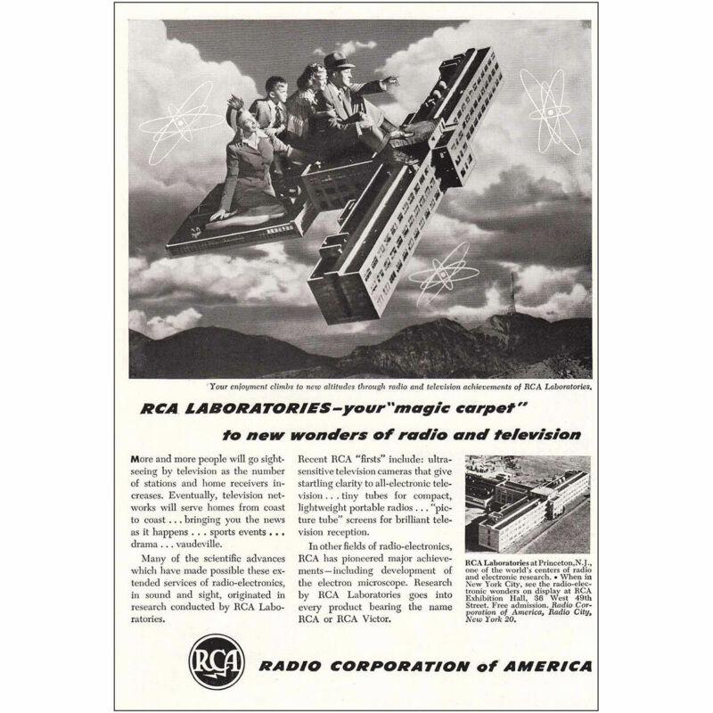 1947 RCA: Magic Carpet Vintage Print Ad