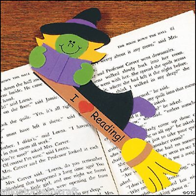 Halloween Reading Bookmarks (Halloween I Love Reading Witch Bookmark Craft Kit for Kids)
