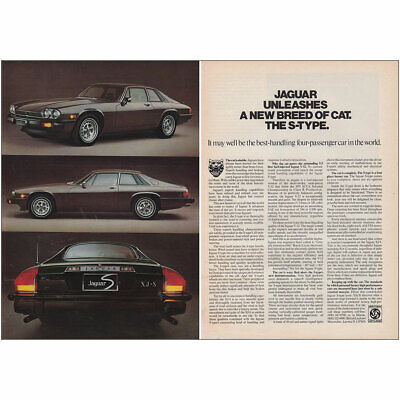 1976 Jaguar: Unleashes a New Breed of Cat the S Type Vintage Print Ad