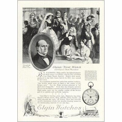 1921 Elgin Watches: Elgins First Watch Vintage Print Ad