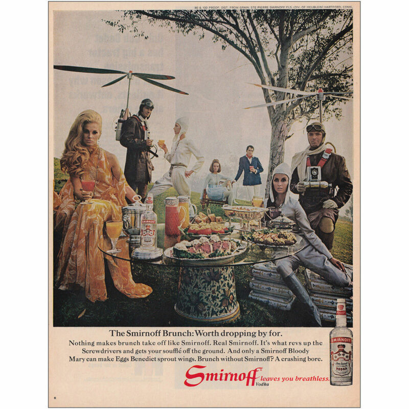 1969 Smirnoff: Worth Dropping By For Vintage Print Ad