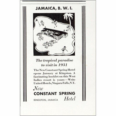 1931 Constant Spring Hotel: Jamaica BWI Vintage Print Ad