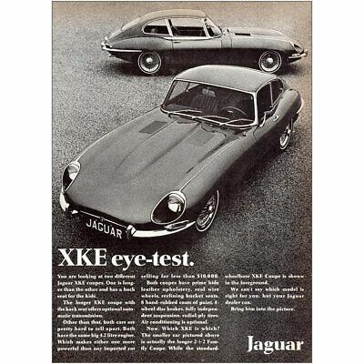 1968 Jaguar: XKE Eye Test Vintage Print Ad