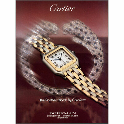 1984 Cartier: The Panther Watch Vintage Print Ad