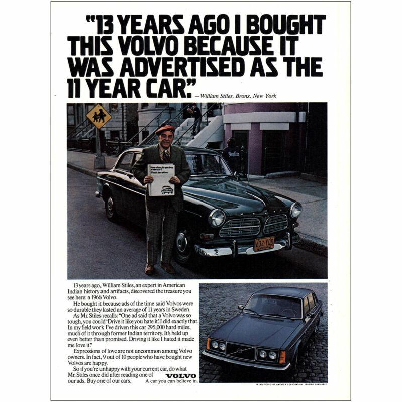 1979 Volvo: Advertised As the 11 Year Car Vintage Print Ad